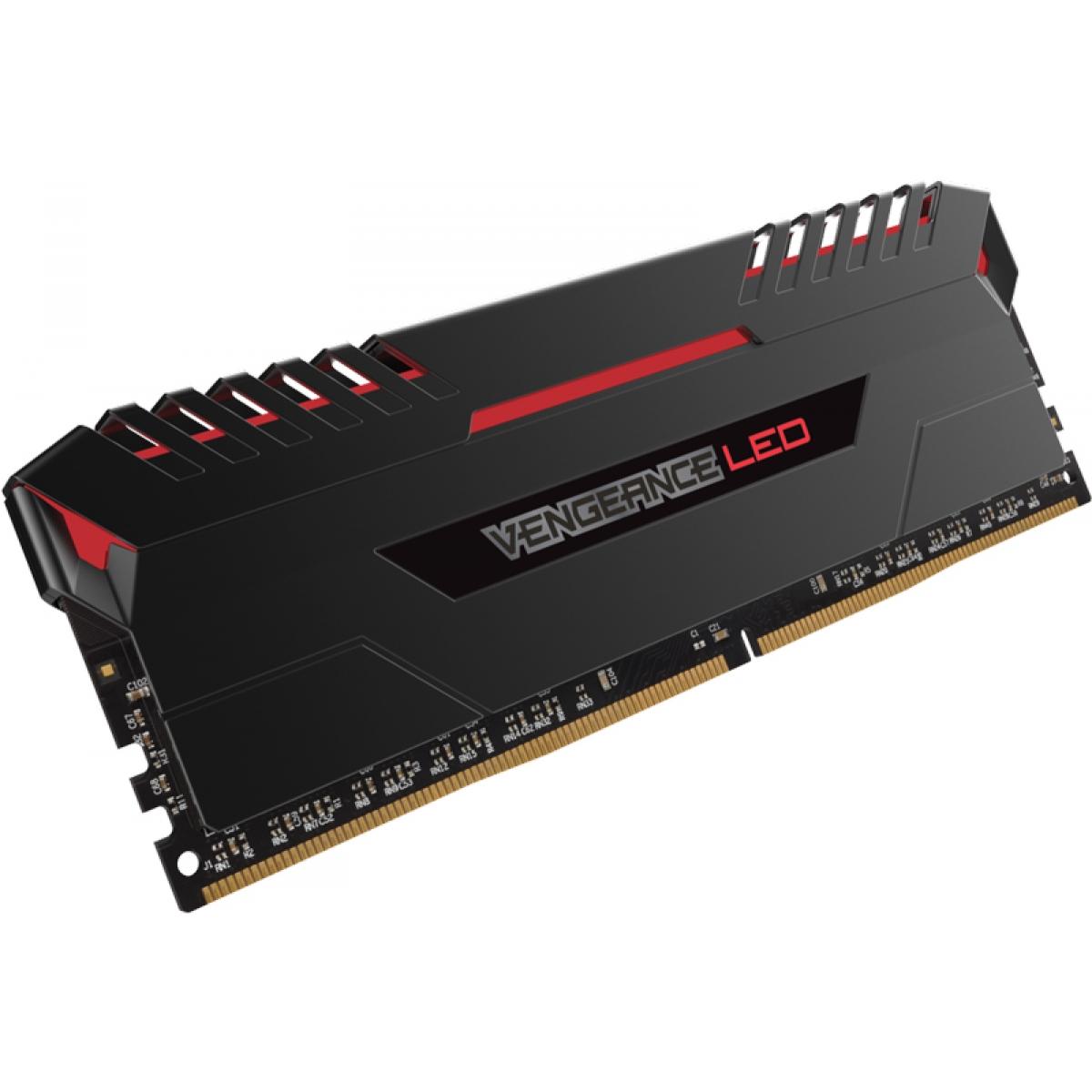 Memória DDR4 Corsair Vengeance LED 16GB (2x8GB) 2666MHz CMU16GX4M2A2666C16R