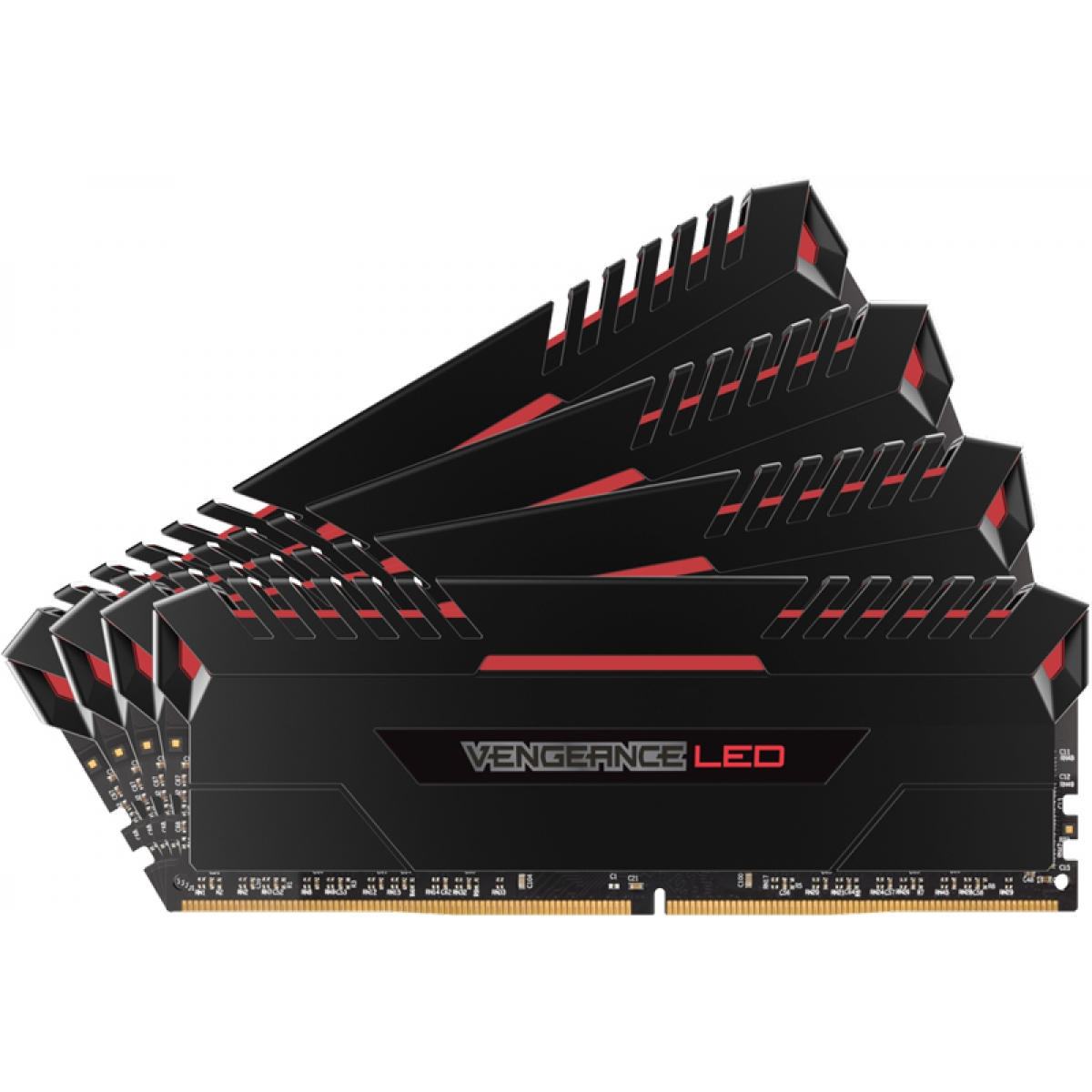 Memória DDR4 Corsair Vengeance LED 32GB (4x8GB) 3000MHz CMU32GX4M4C3000C15R