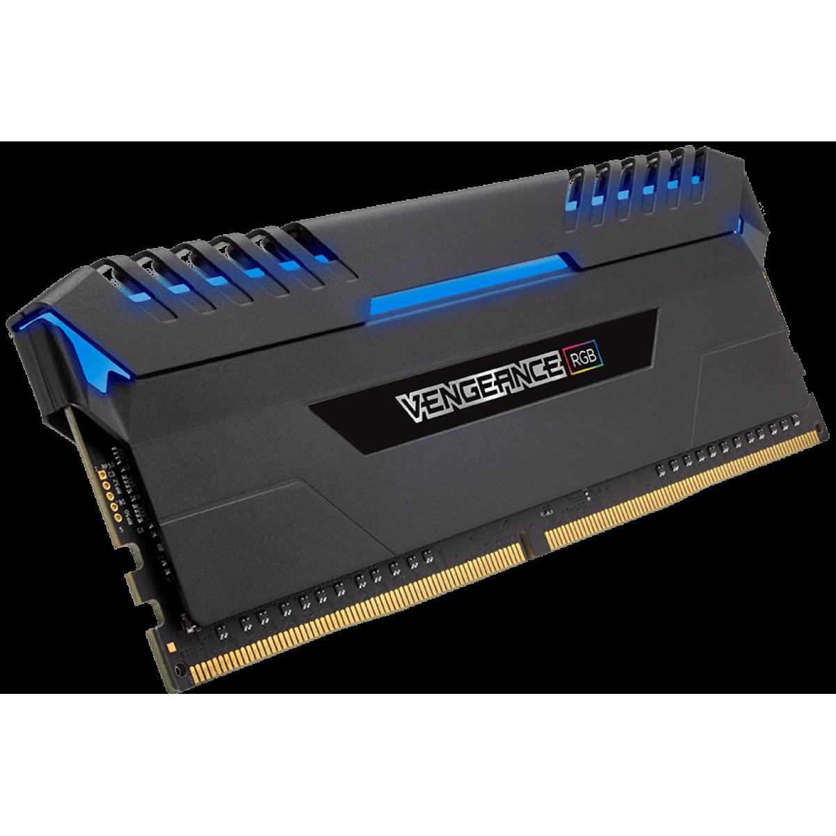 Memória DDR4 Corsair Vengeance RGB, 16GB (2x8GB) 2666MHz, CMR16GX4M2A2666C16