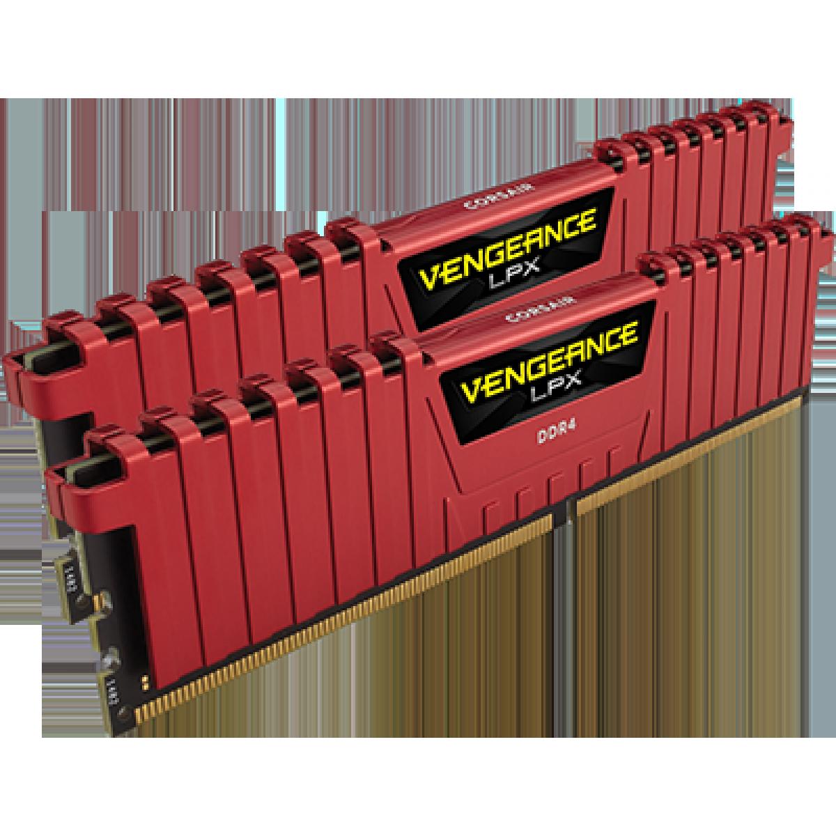 Memória DDR4 Corsair Vengeance LPX 16GB, Red(2x8GB) 3200MHz, CMK16GX4M2B3200C16R