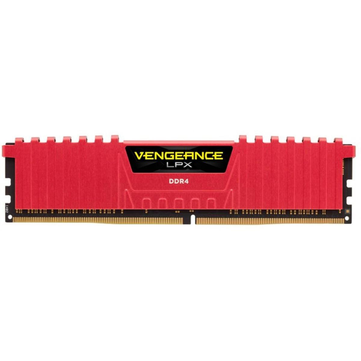 Memória DDR4 Corsair Vengeance LPX, 8GB 2666MHz, CMK8GX4M1A2666C16R