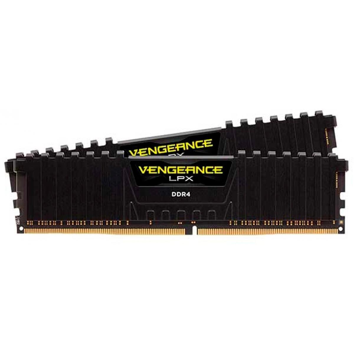 Memória DDR4 Corsair Vengeance LPX, 8GB (2x4GB) 2133MHz, Black, CMK8GX4M2A2133C13