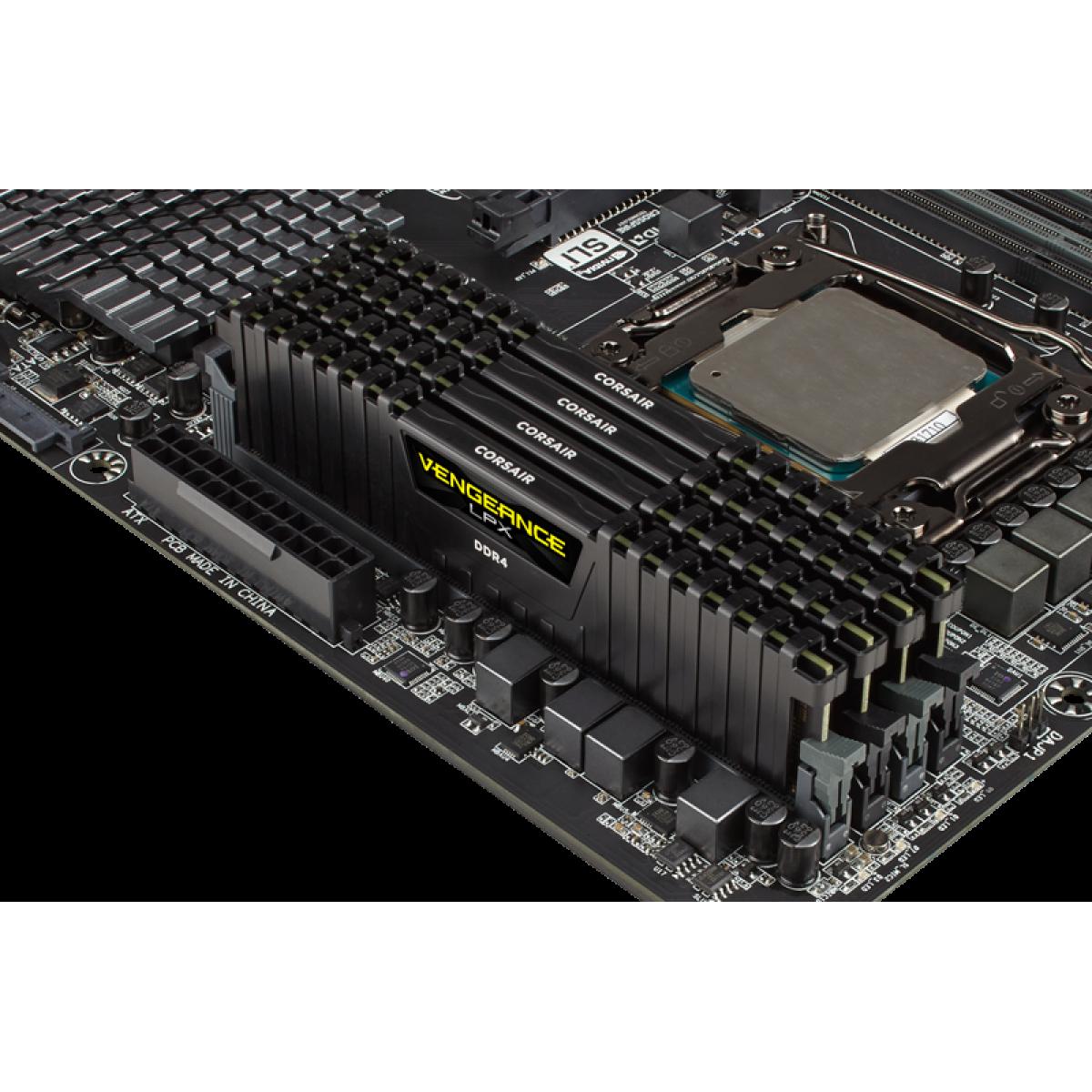 Memória DDR4 Corsair Vengeance LPX, 16GB 2400MHz, CMK16GX4M1A2400C14