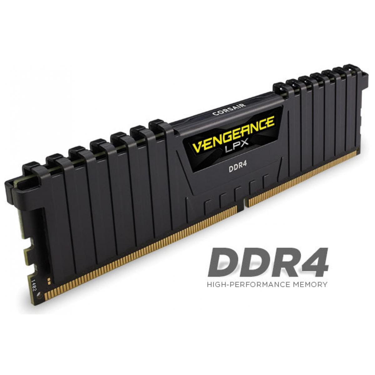 Memória DDR4 Corsair Vengeance LPX, 16GB 3000MHz, Black, CMK16GX4M1B3000C15