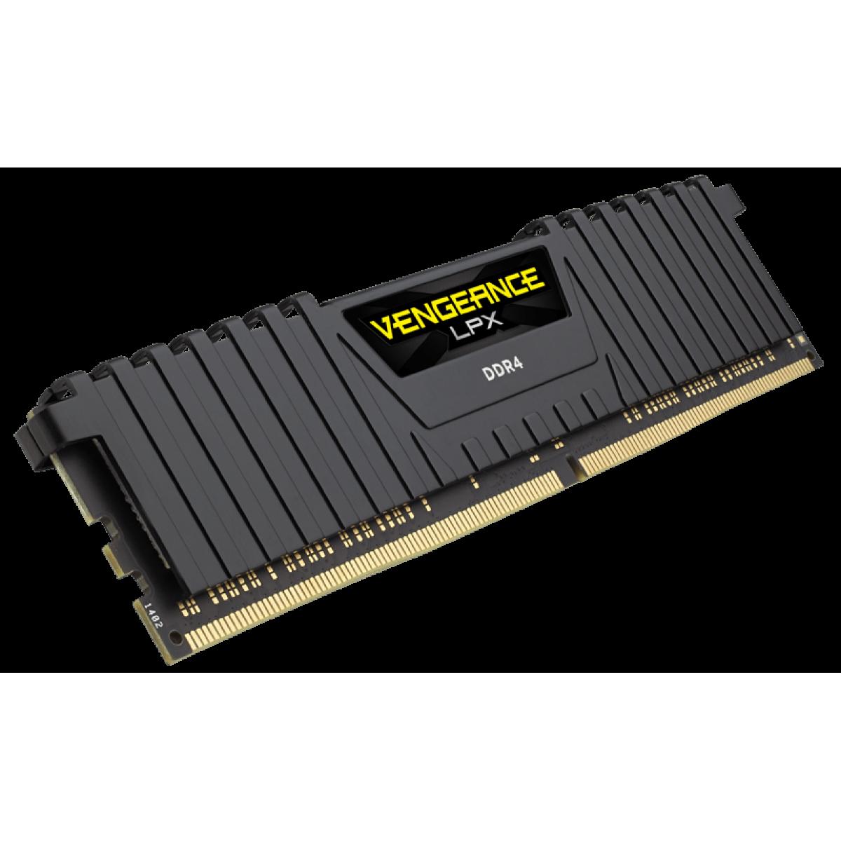Memória DDR4 Corsair Vengeance LPX 8GB 2400MHz CMK8GX4M1A2400C16