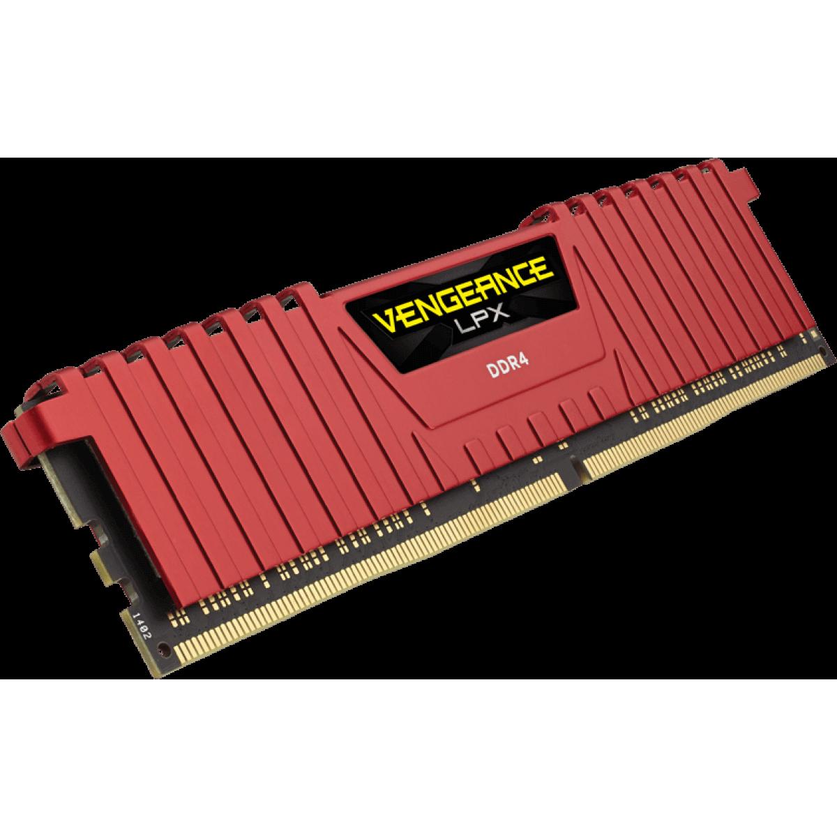 Memória DDR4 Corsair Vengeance LPX, 8GB 2400MHz, CMK8GX4M1A2400C16R