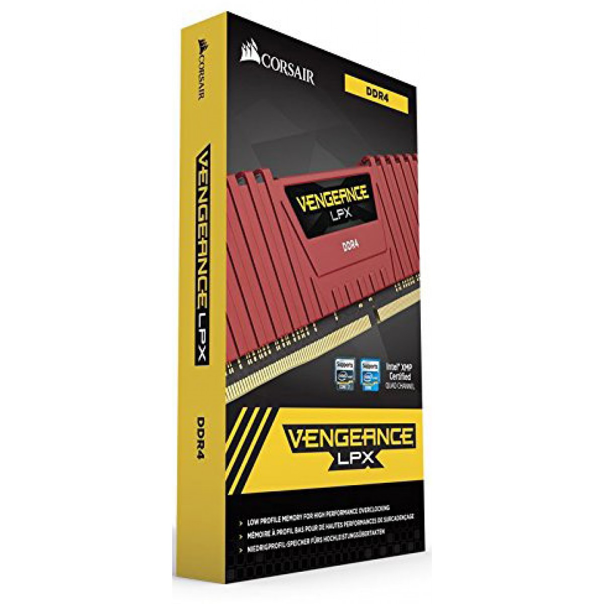 Memória DDR4 Corsair Vengeance LPX CMK8GX4M2A2133C13R 8GB (2x4GB) 2133MHz Red