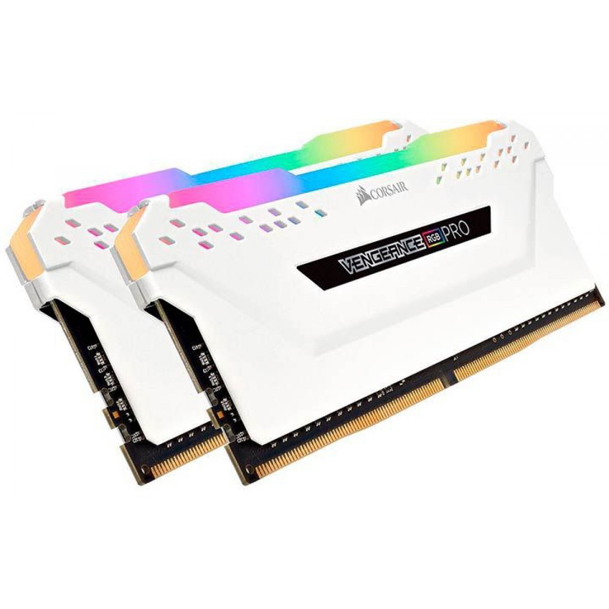 Memória DDR4 Corsair Vengeance PRO RGB 16GB (2x8GB) 3600MHz, White, CMW16GX4M2C3600C18W
