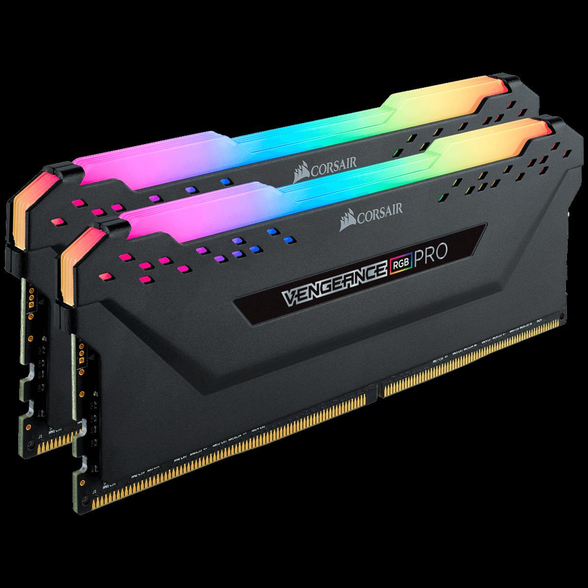 Memória DDR4 Corsair Vengeance RGB Pro, 16GB (2x8GB) 3200MHz, CL14, Black, CMW16GX4M2C3200C14