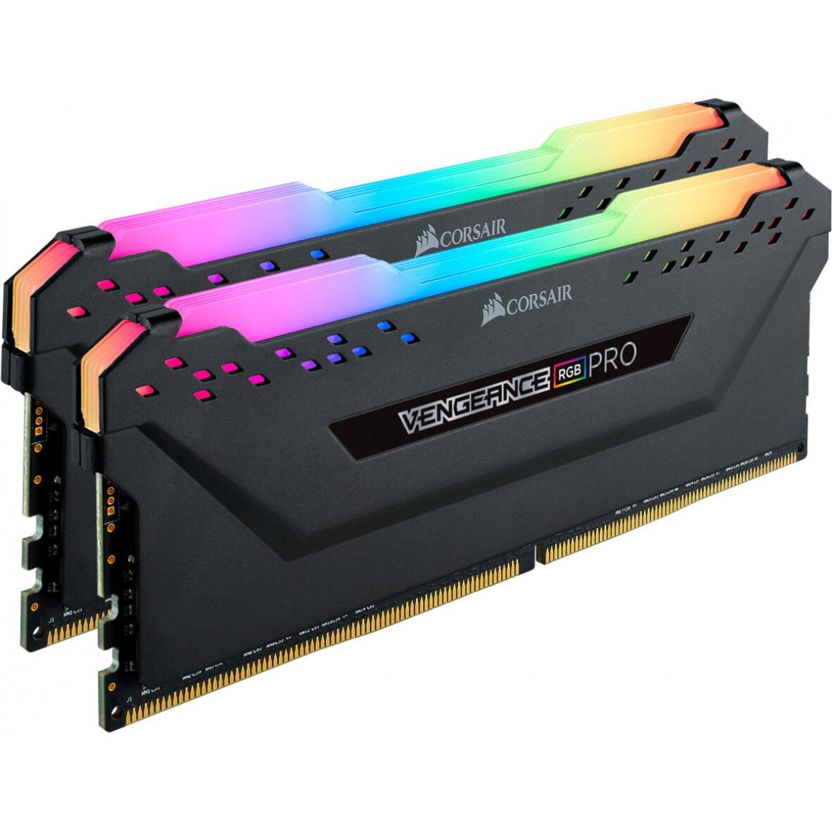 Memória DDR4 Corsair Vengeance RGB Pro CMW32GX4M2C3000C15 32GB (2x16GB) 3000MHz