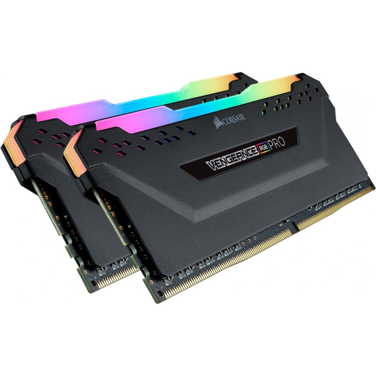 Memória DDR4 Corsair Vengeance RGB Pro, 32GB (2x16GB) 3466MHz, CMW32GX4M2C3466C16
