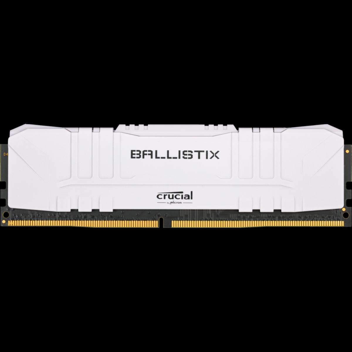 Memória DDR4 Crucial Ballistix, 8GB, 2666MHz, White, BL8G26C16U4W