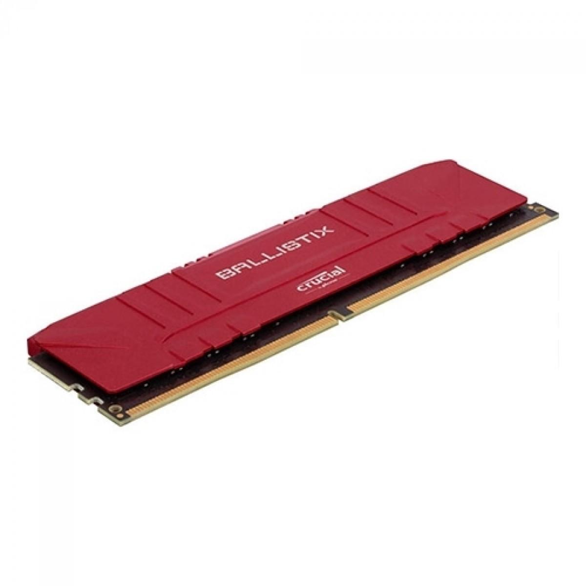 Memória DDR4 Crucial Ballistix, 16GB (2x8GB), 3200MHz, Red, BL2K8G32C16U4R