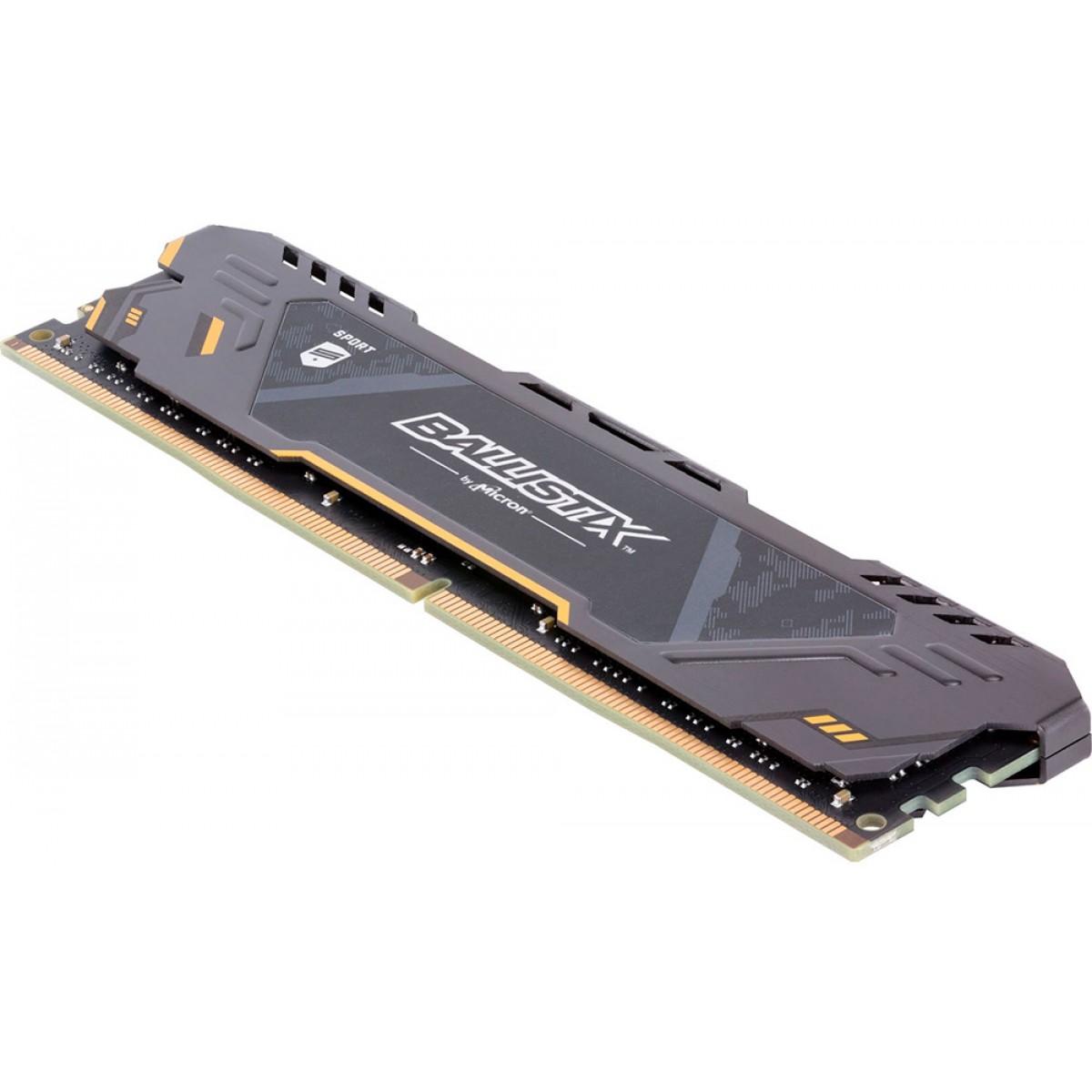 Memória DDR4 Crucial Ballistix Sport TUF Edition, 8GB 2666MHz, BLS8G4D26BFSTK