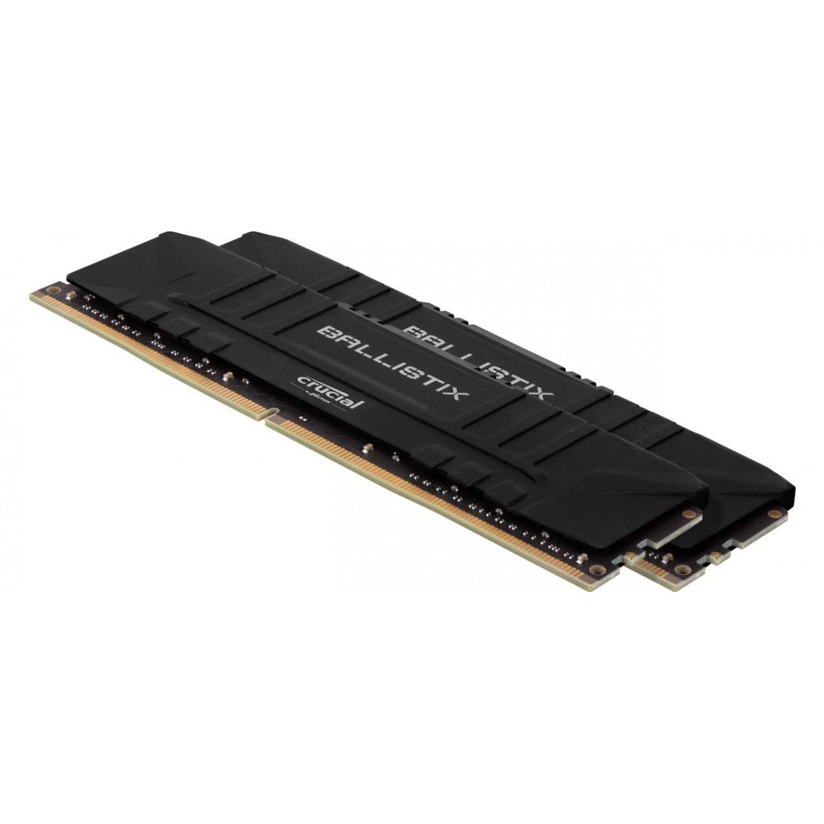 Memória DDR4 Crucial Ballistix Sport Lt, 16GB (2x8GB) 3000MHz, Black, BL2K8G30C15U4B