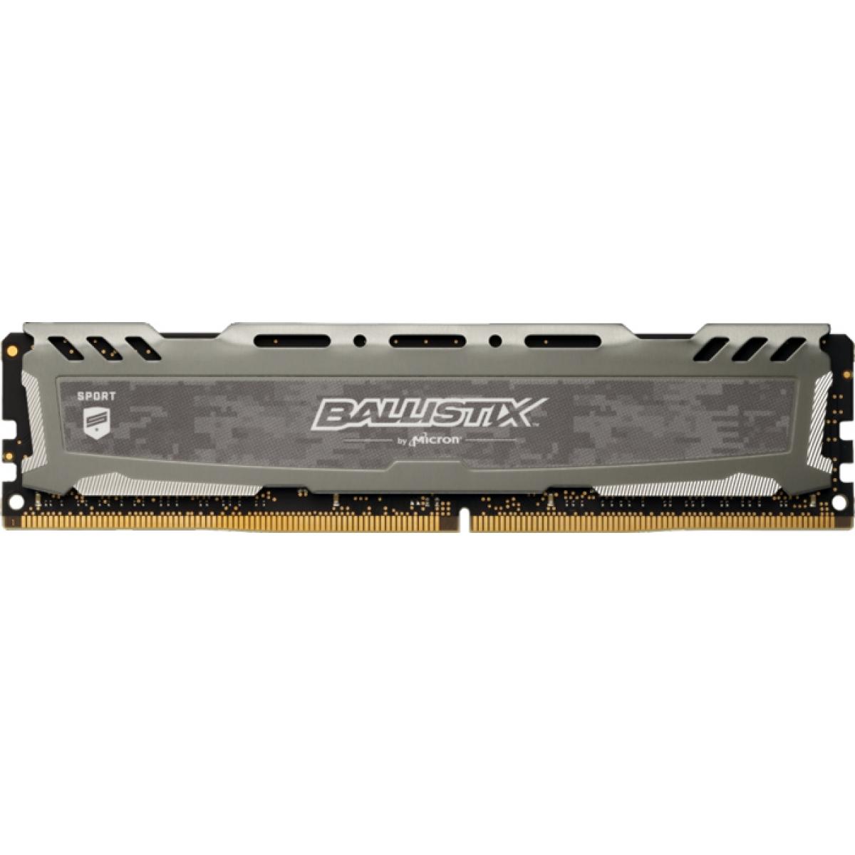 Memória DDR4 Crucial Ballistix Sport Lt, 16GB 3000MHz, Grey, BLS16G4D30AESB