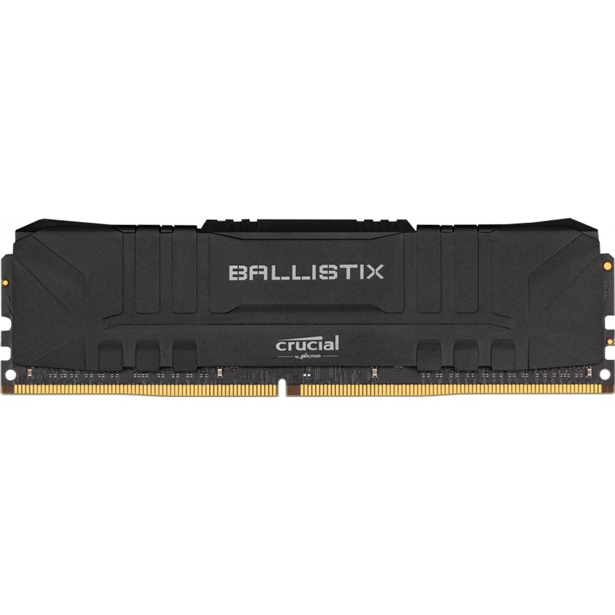 Memória DDR4 Crucial Ballistix Sport Lt, 8GB,  3000MHz, Black, BL8G30C15U4B