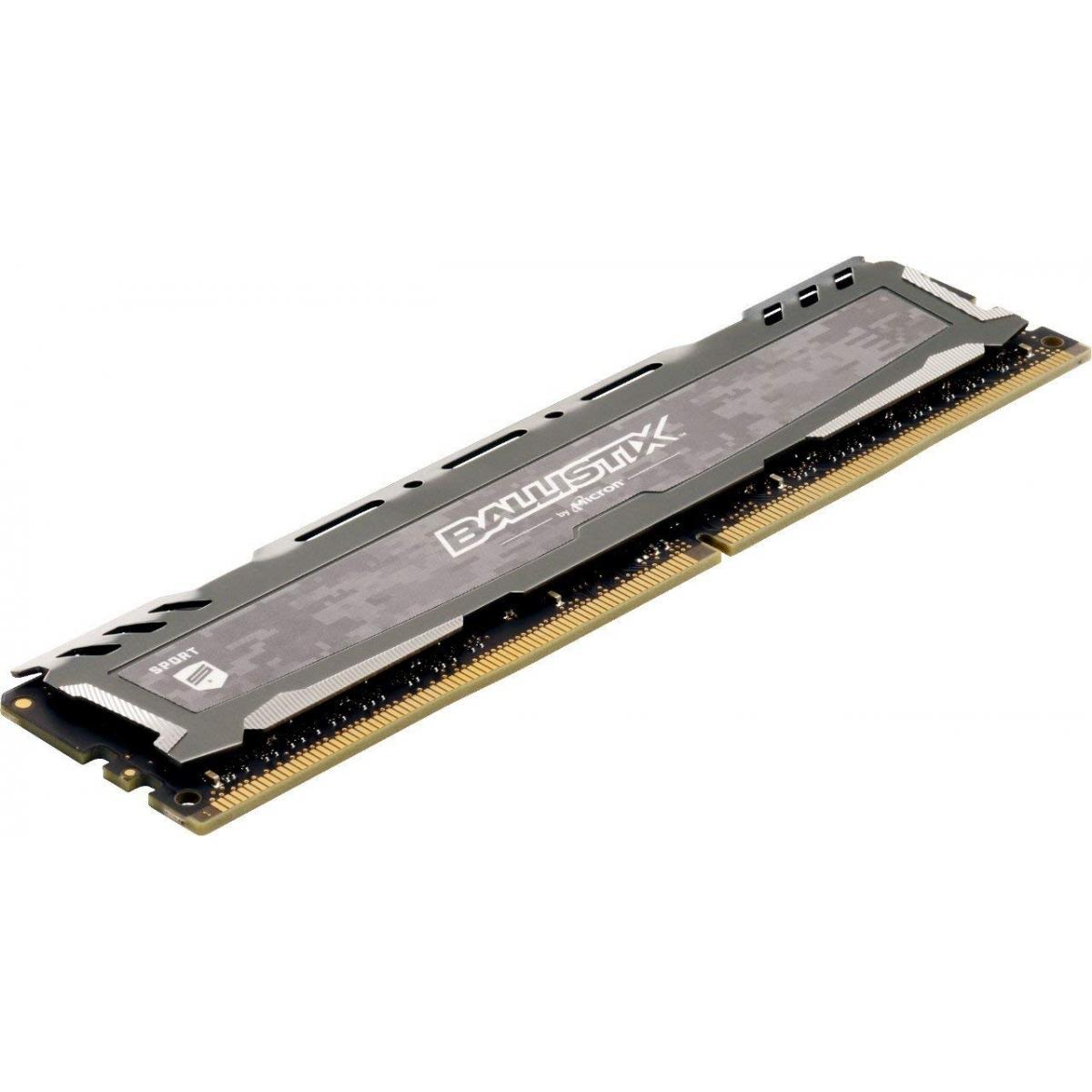 Memória DDR4 Crucial Ballistix Sport Lt, 8GB 3200MHz, Grey, BLS8G4D32AESBK