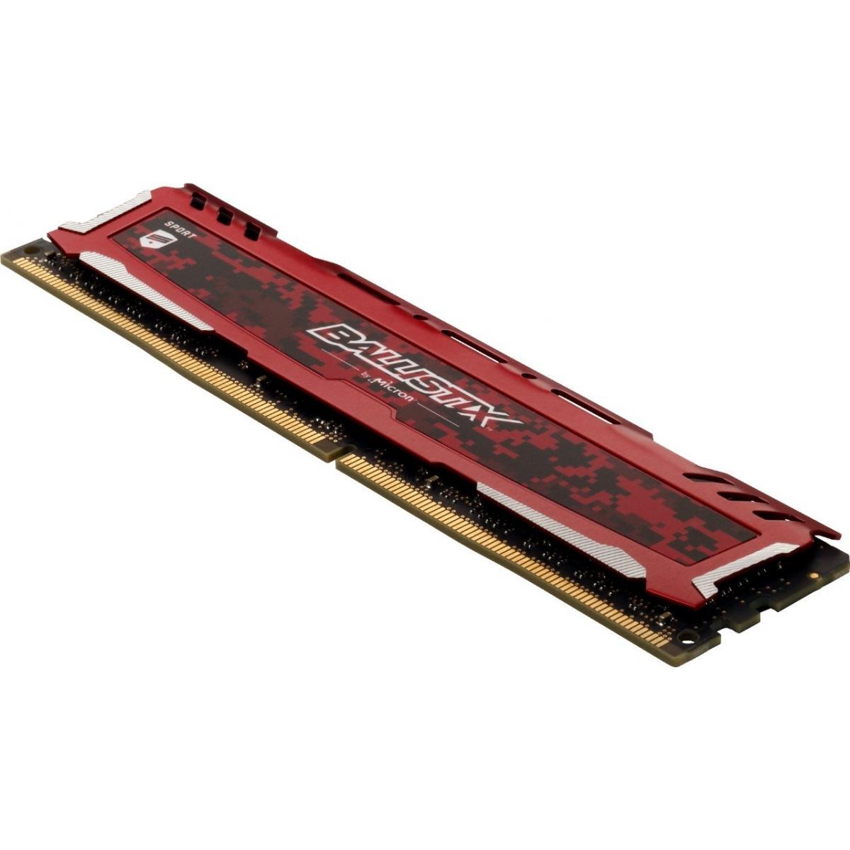 Memória DDR4 Crucial Ballistix Sport Lt, 16GB (2x8GB) 3200MHz, Red, BLS2K8G4D32AESEK
