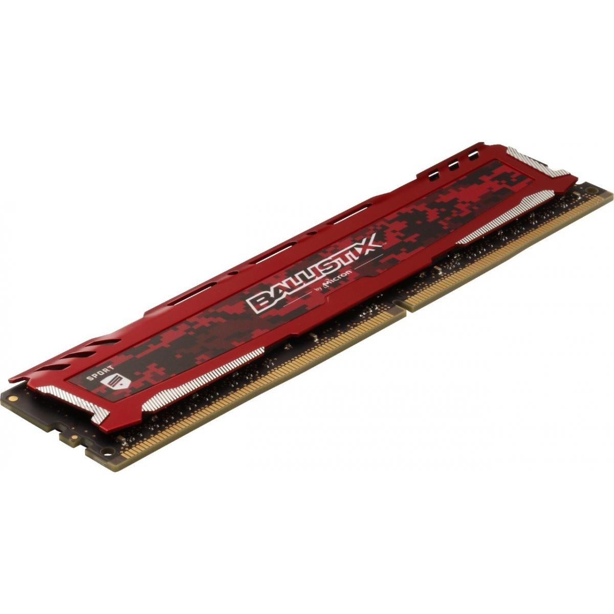 Memória DDR4 Crucial Ballistix Sport Lt, 16GB 3200MHz, Red, BLS16G4D32AESE