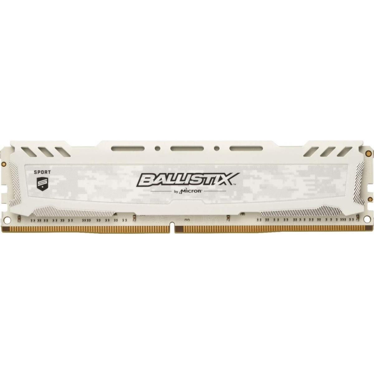 Memória DDR4 Crucial Ballistix Sport Lt, 16GB 3200MHz, White, BLS16G4D32AESC