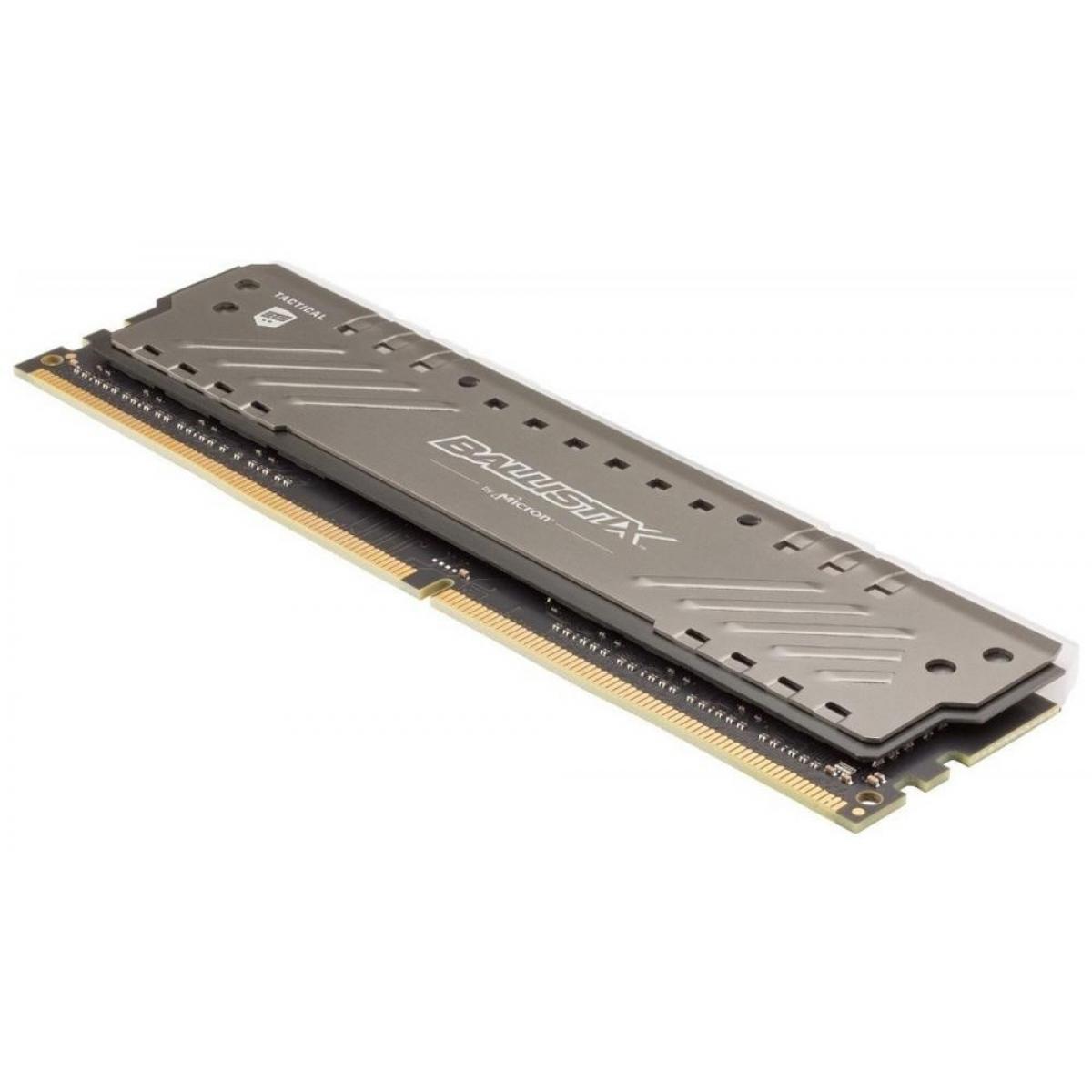 Memória DDR4 Crucial Ballistix Tactical Tracer RGB, 8GB 3000MHz, Grey, BLT8G4D30BET4K