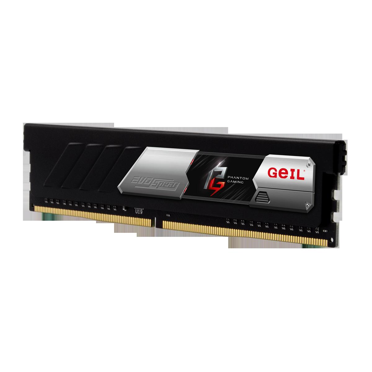 Memória DDR4 Geil EVO Spear Phantom Gaming (AMD), 16GB (2x8GB), 3200MHz, Black, GASF416GB3200C16BDC
