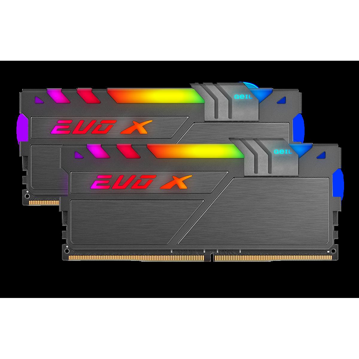 Memória DDR4 Geil EVO X II RGB SYNC 16GB (2x8GB) 3600mhz, GAEXSY416GB3600C18BDC