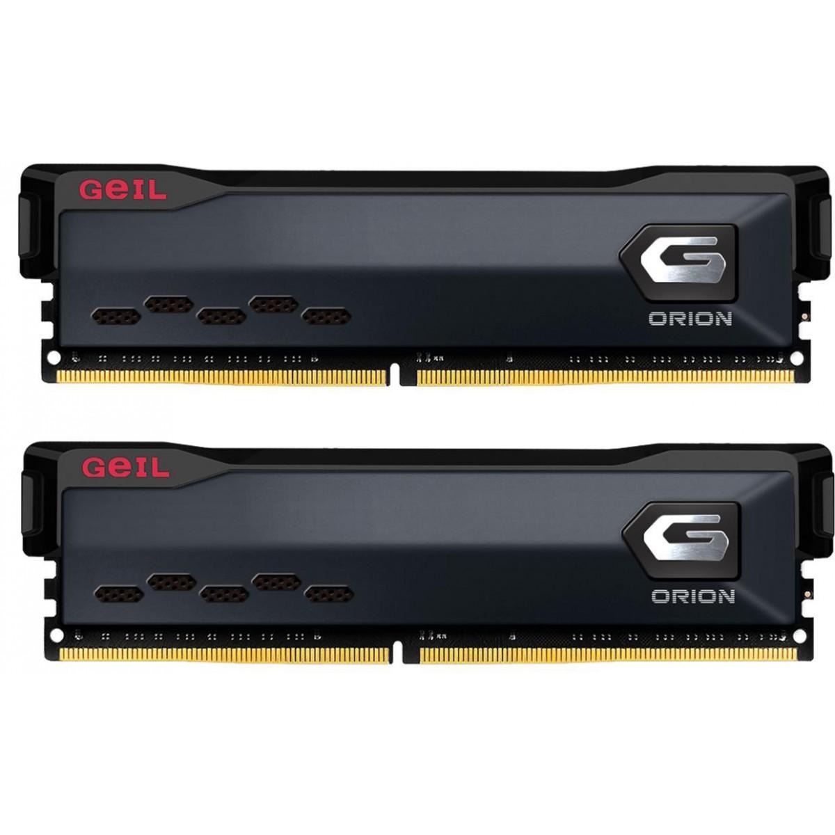 Memória DDR4 Geil Orion, 16GB (2x8GB) 3600MHz, Black, GAOG416GB3600C18BDC