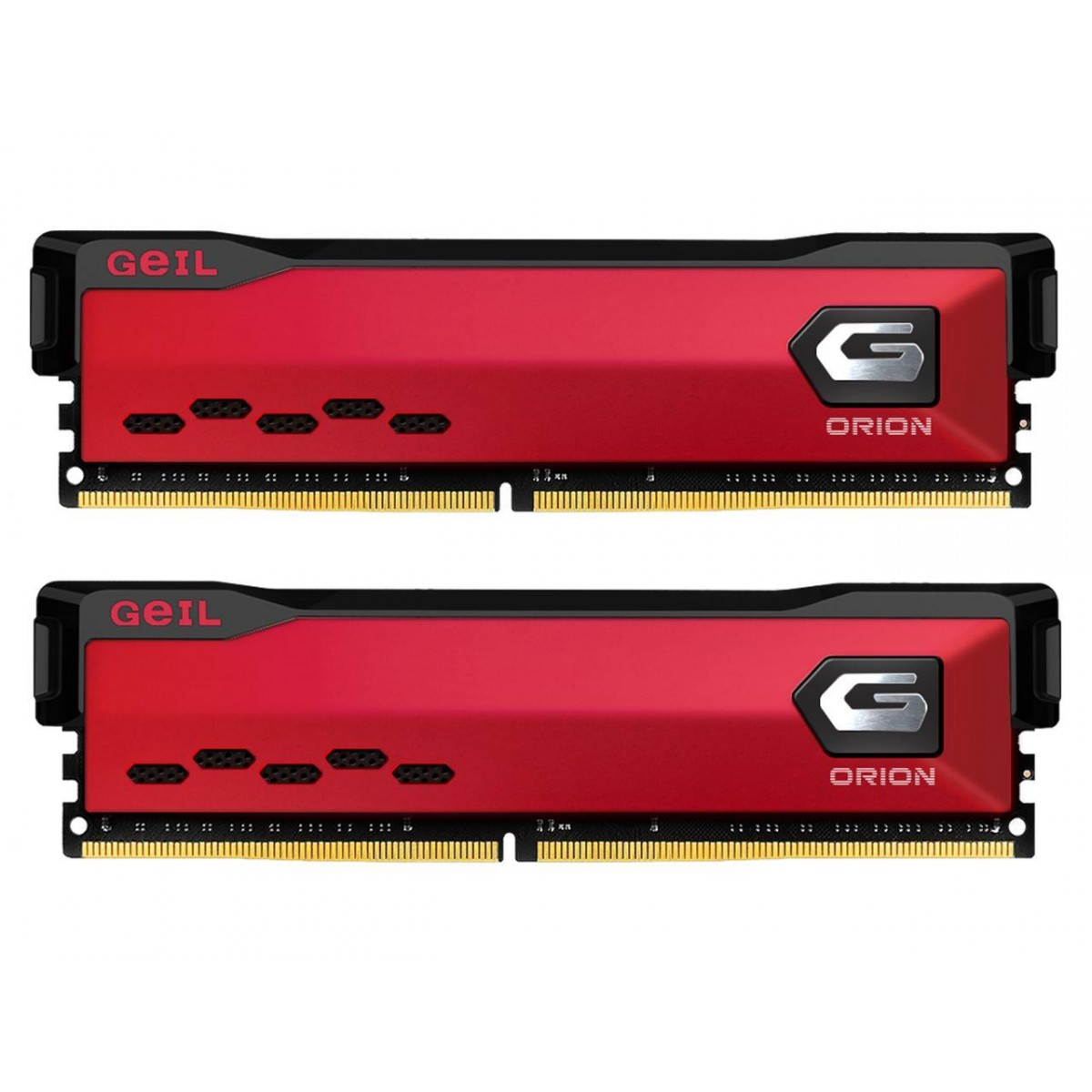 Memória DDR4 Geil Orion, 16GB (2x8GB) 3600MHz, Red, GAOR416GB3600C18BDC