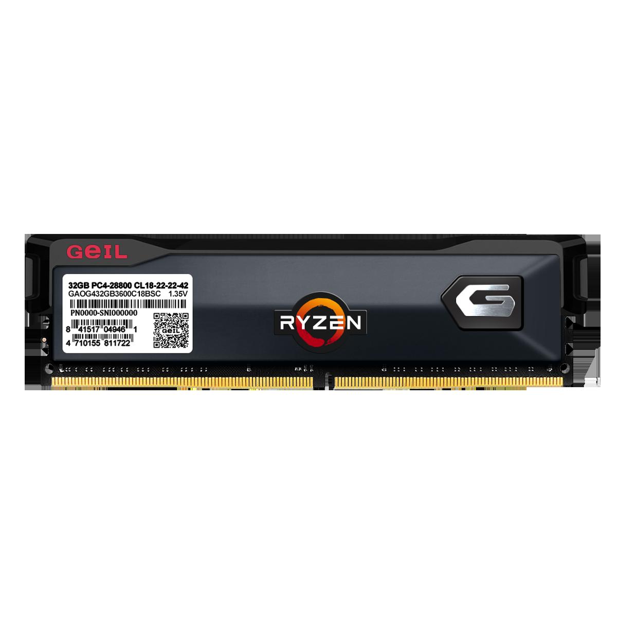 Memória DDR4 Geil Orion, Edição AMD, 8GB, 3200MHz, Gray, GAOG48GB3200C16BSC