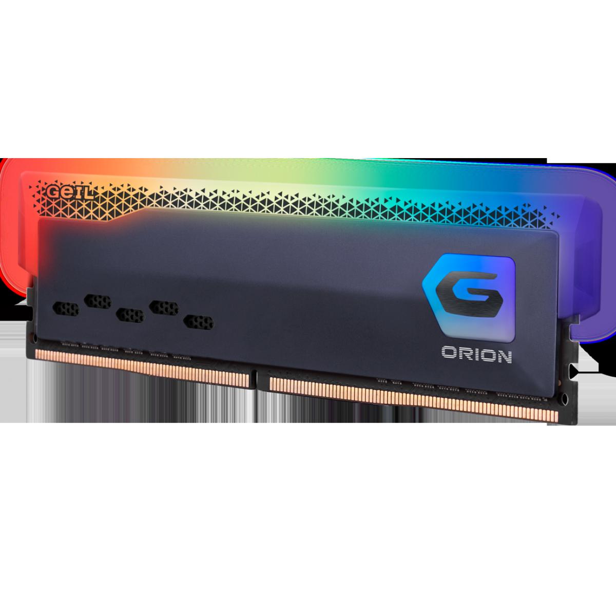 Memória DDR4 Geil Orion RGB, Edição AMD, 16GB, 3000MHz, Gray, GAOSG416GB3000C16ASC