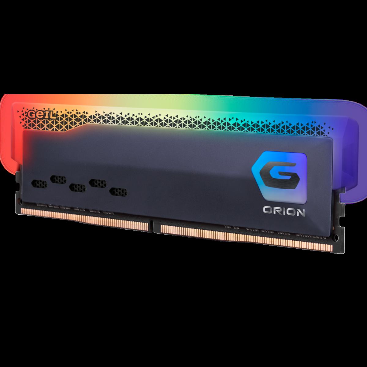 Memória DDR4 Geil Orion RGB, Edição AMD, 8GB, 3200MHz, Gray, GAOSG48GB3200C16BSC