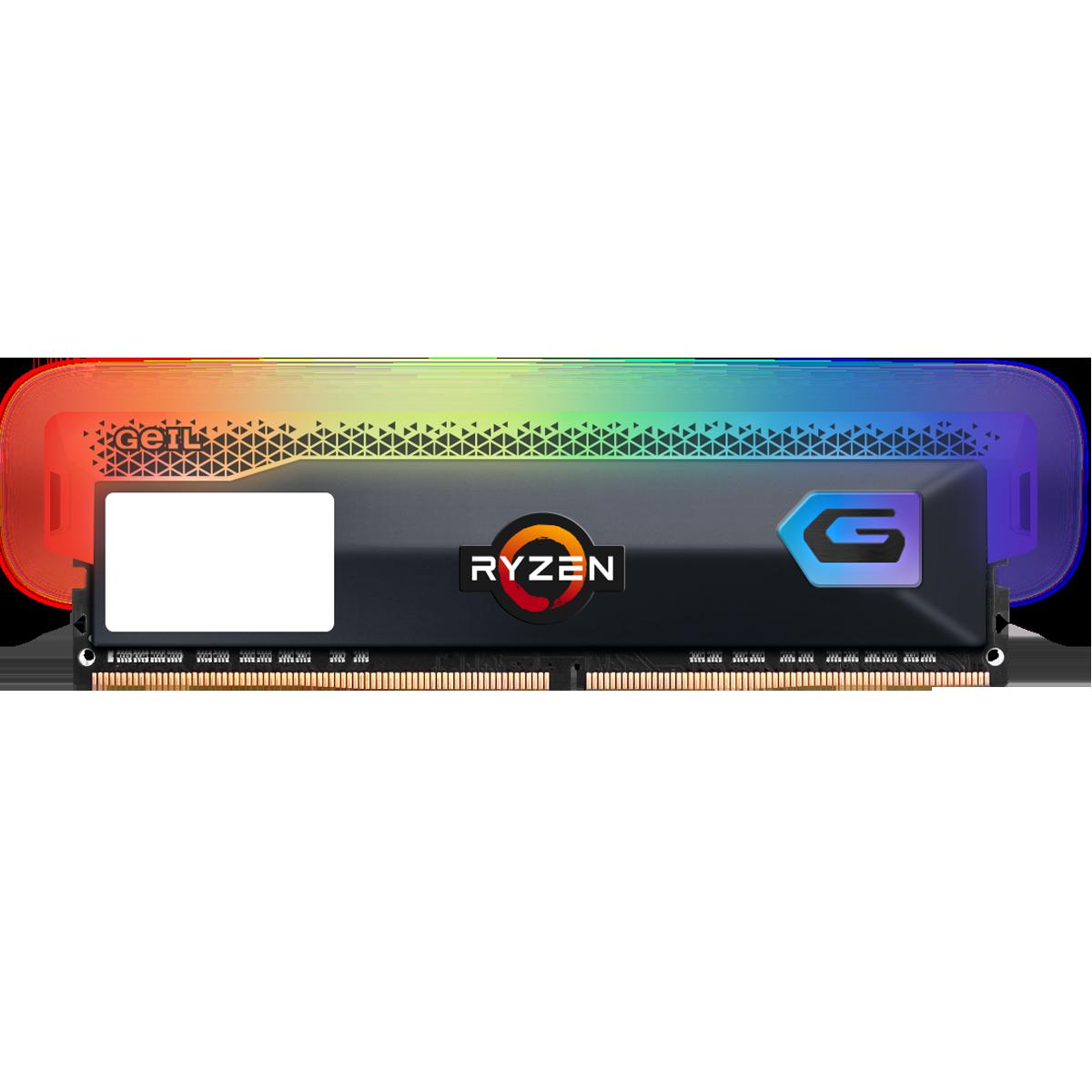 Memória DDR4 Geil Orion RGB, Edição AMD, 8GB, 3600MHz, Gray, GAOSG48GB3600C18BSC