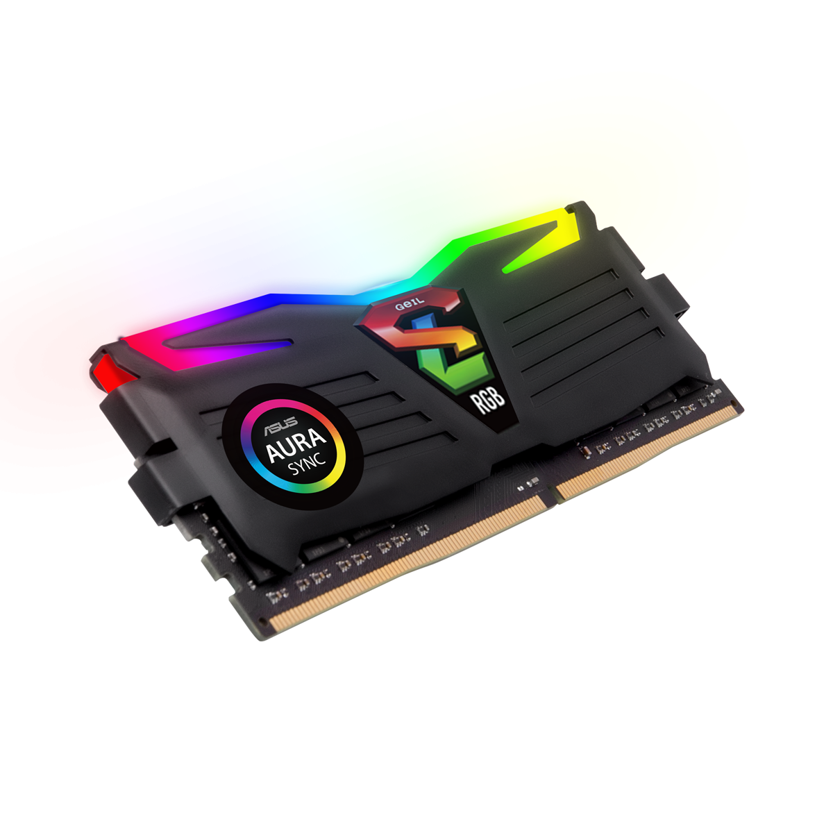 MEMÓRIA DDR4 GEIL SUPER LUCE, 16GB, 3000MHZ, BLACK, GALS416GB3000C16ASC