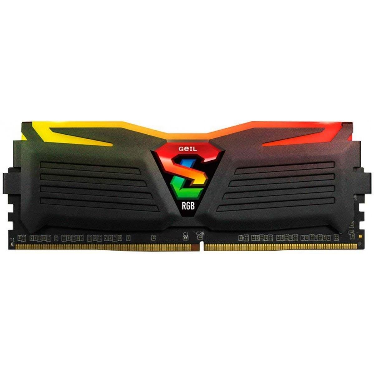 Memória DDR4 Geil Super Luce RGB, 16GB (2X8GB) 3000MHZ, GALS416GB3000C16ADC