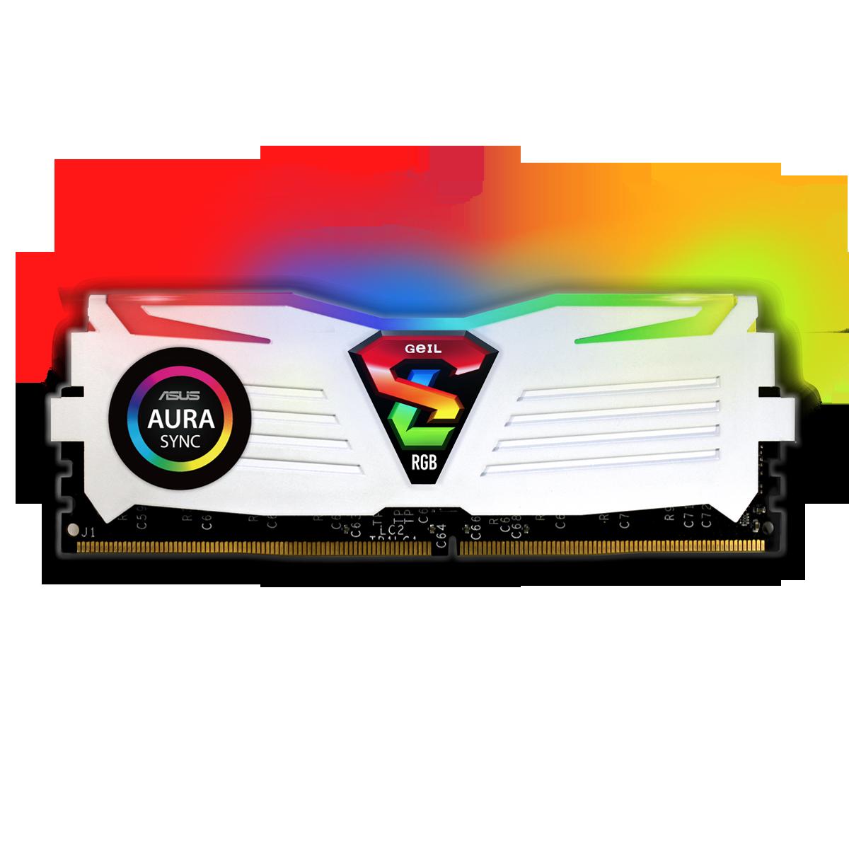 Memória DDR4 Geil Super Luce RGB, 16GB, 3000MHZ, White, GALWS416GB3000C16ASC