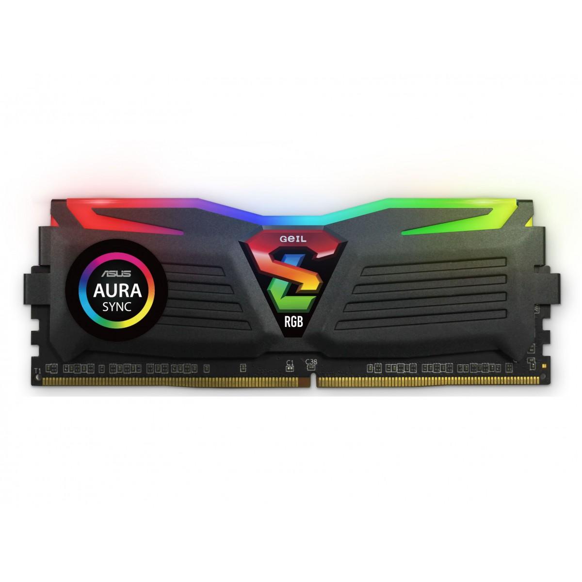 Memória DDR4 Geil Super Luce RGB, 8GB, 3200MHZ, GALS48GB3200C16ASC