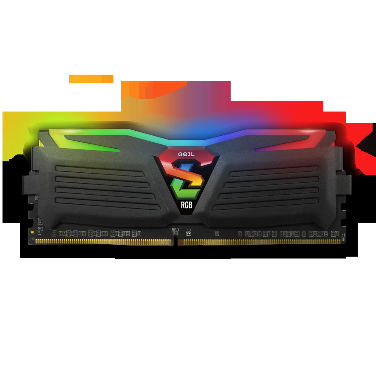 Memória DDR4 Geil Super Luce RGB, 8GB, 3200MHZ, GALS48GB3200C16BSC