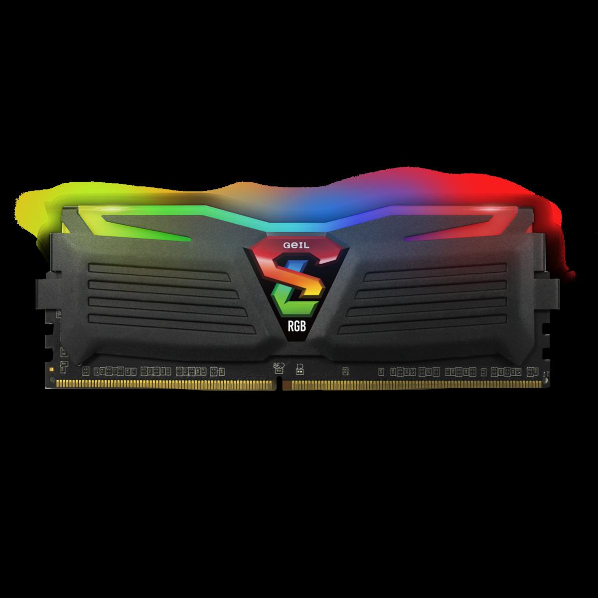 Memória DDR4 Geil Super Luce RGB, 8GB 3000MHZ, GALS48GB3000C16ASC