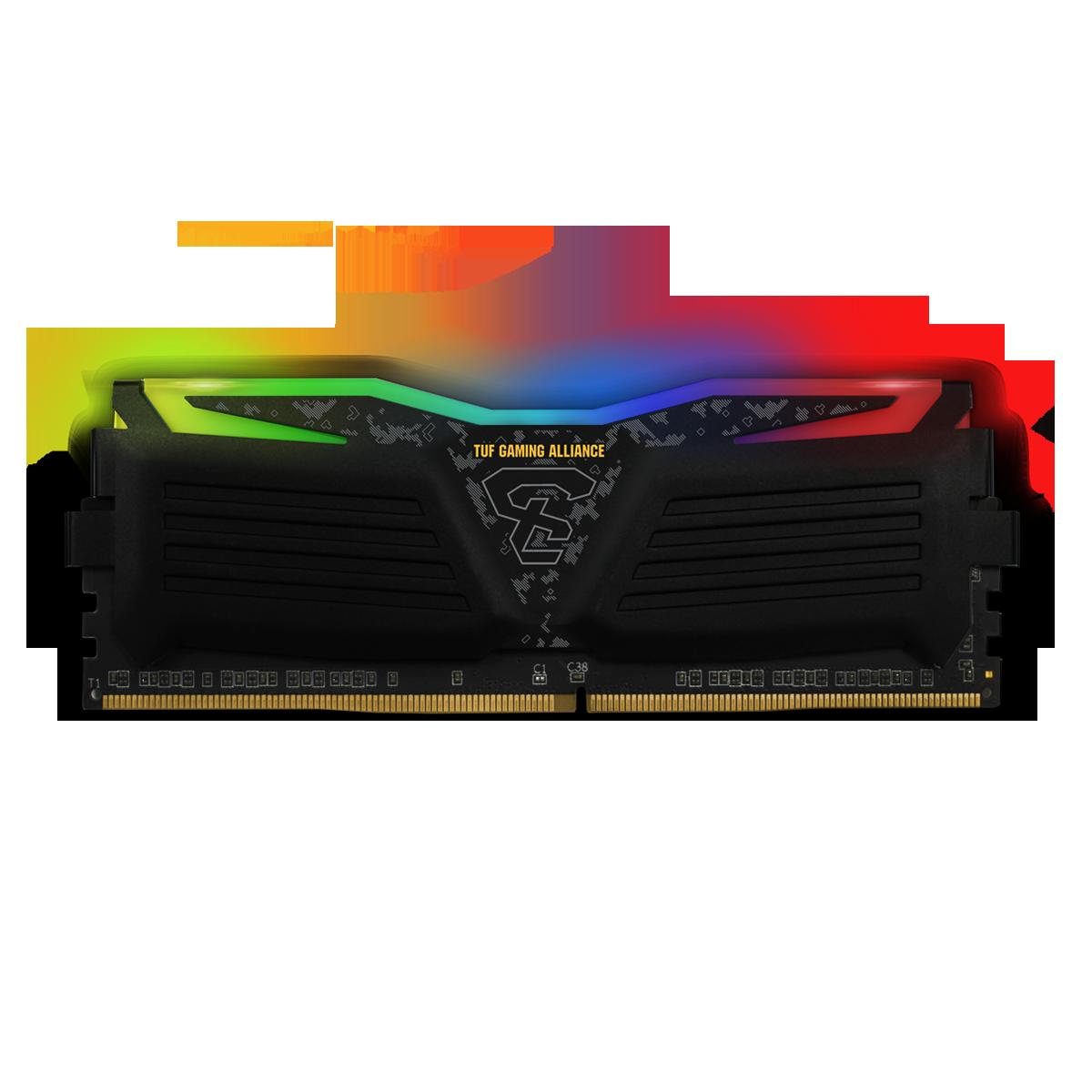 Memória DDR4 Geil Super Luce RGB TUF Gaming Alliance, 16GB (2x8GB), 3200MHz, GLTS416GB3200C16BDC