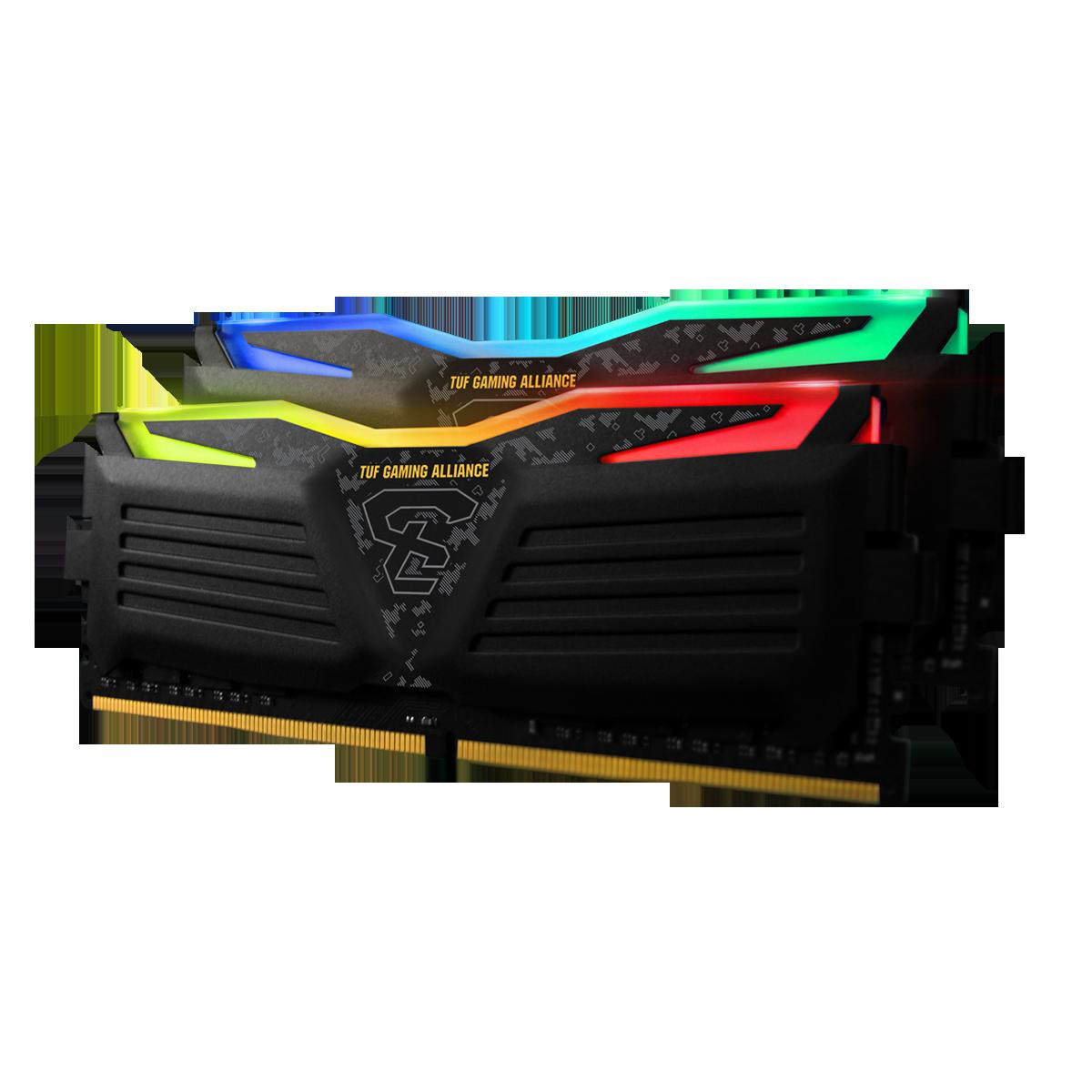 Memória DDR4 Geil Super Luce RGB TUF Gaming Alliance, 16GB (2x8GB), 3600MHz, GLTS416GB3600C18BDC