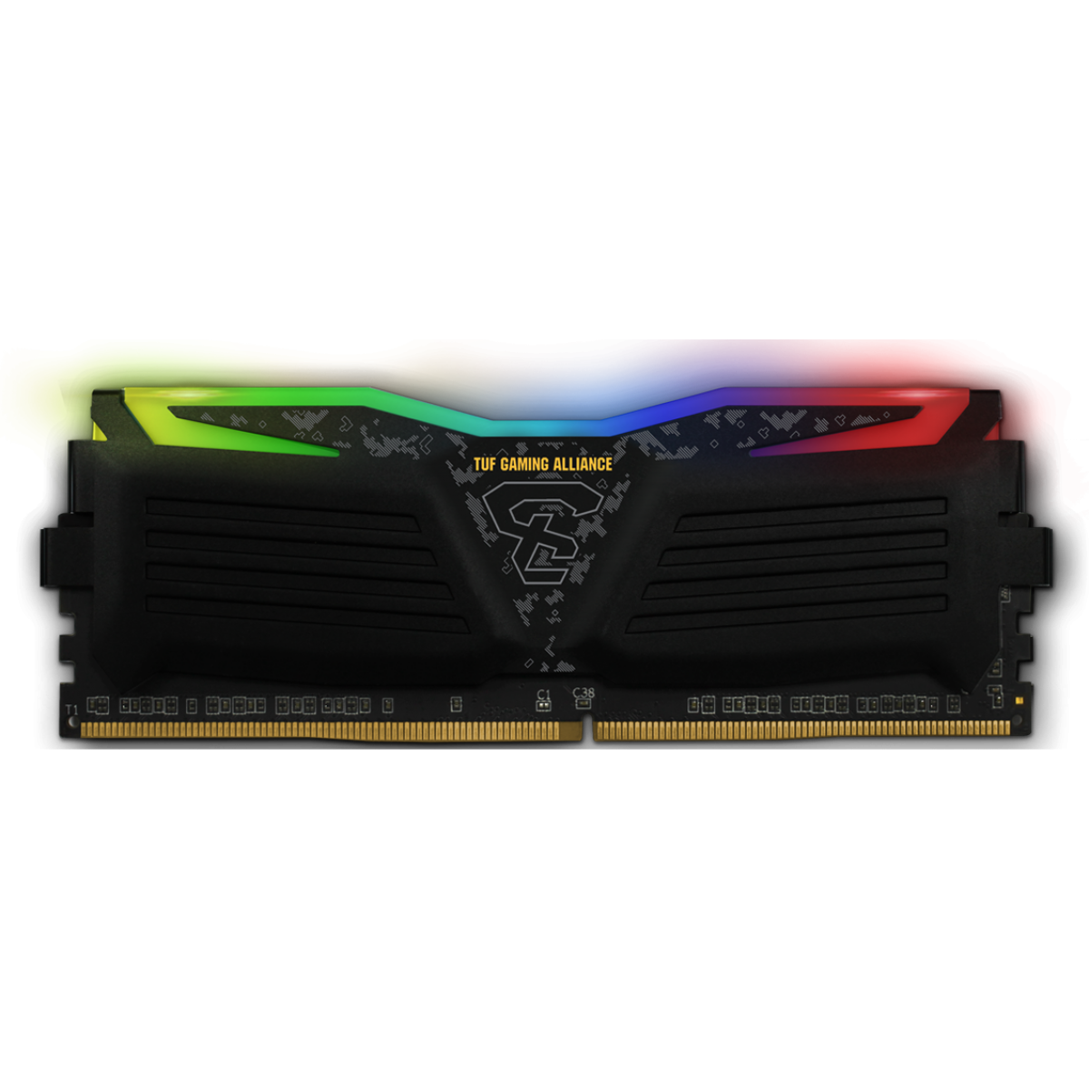 Memória DDR4 Geil Super Luce RGB TUF Gaming Alliance AMD Edition, 8GB 3000Mhz, GALTS48GB3000C16ASC