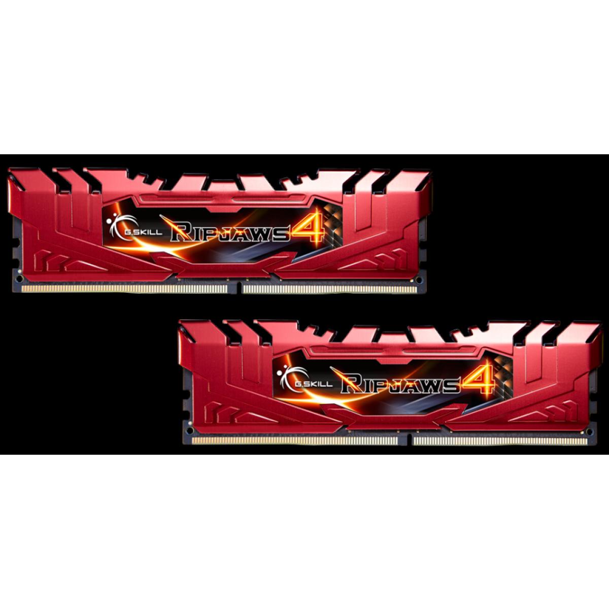 Memória DDR4 G.Skill Ripjaws 4, 16GB (2x8GB) 2400MHz, F4-2400C15D-16GRR