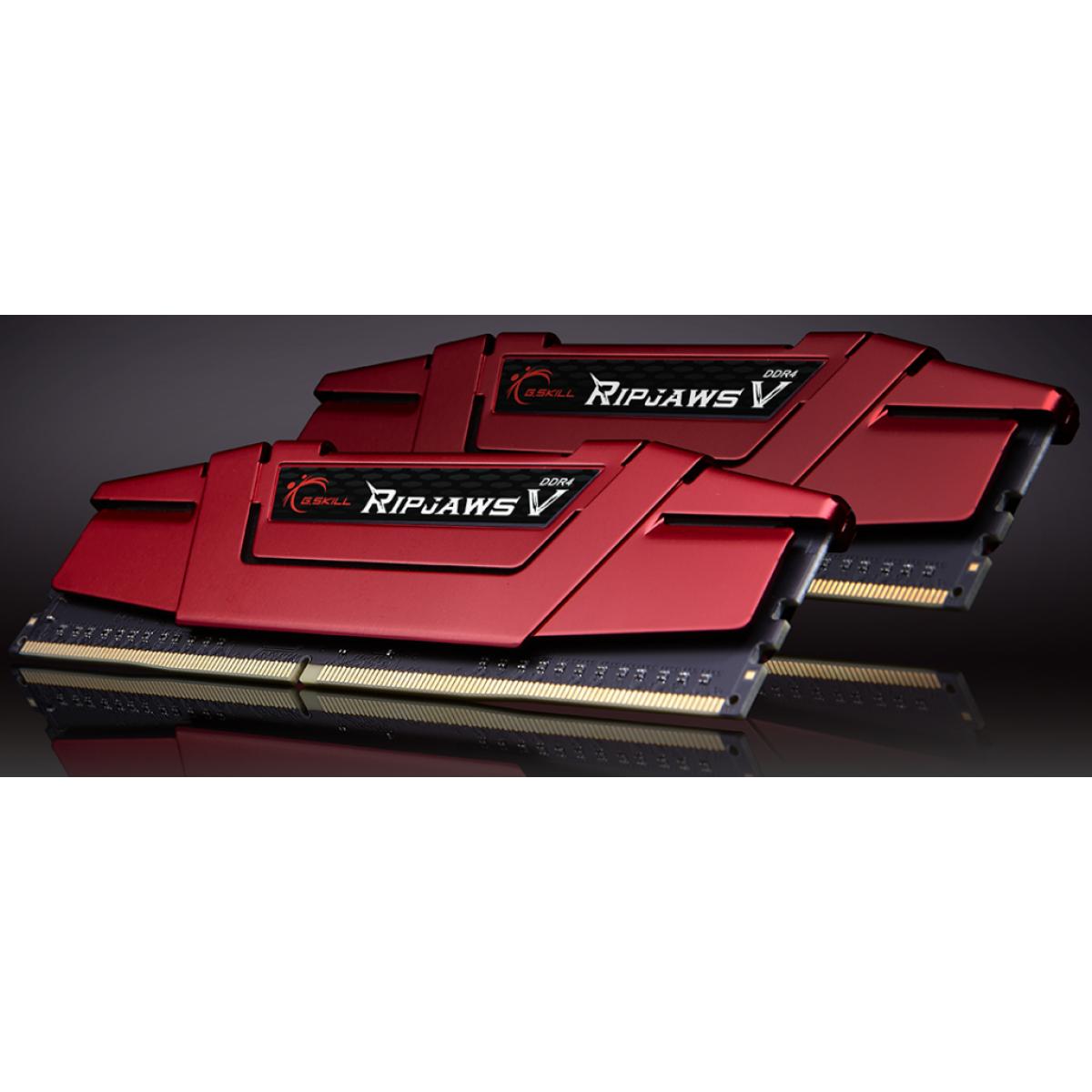 Memória DDR4 G.Skill Ripjaws V, 16GB (2x8GB) 2400MHz, F4-2400C15D-16GVR