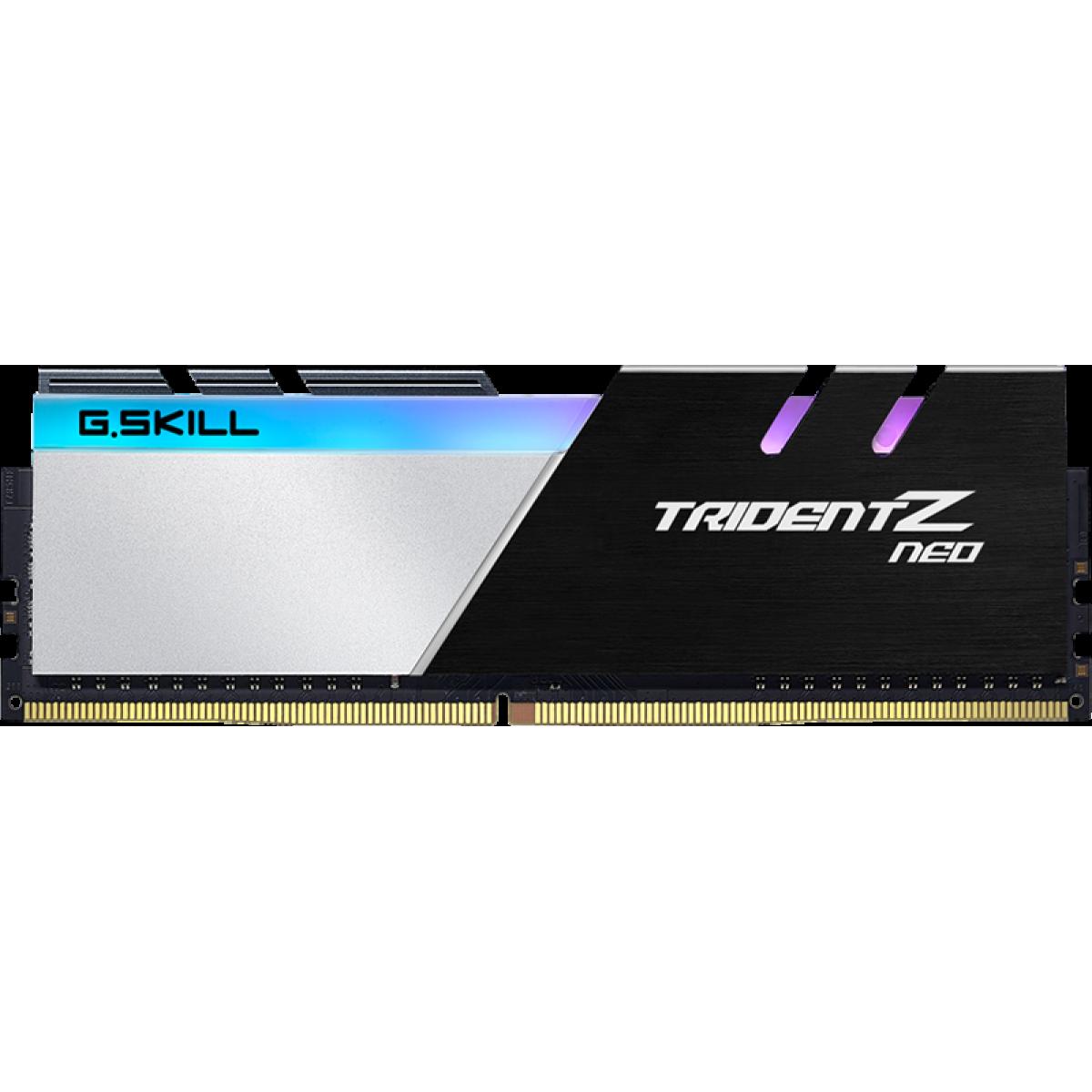 Memória DDR4 G.Skill Trident Neo RGB AMD, 16GB (2x8GB) 3600MHz, F4-3600C16D-16GTZNC