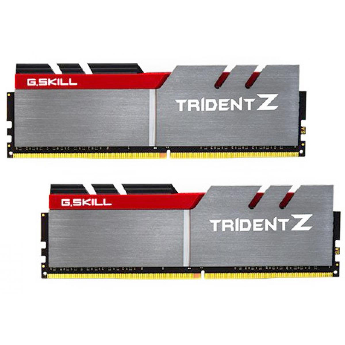 Memória DDR4 G.Skill Trident Z, 16GB (2x8GB) 2800MHz, F4-2800C15D-16GTZB
