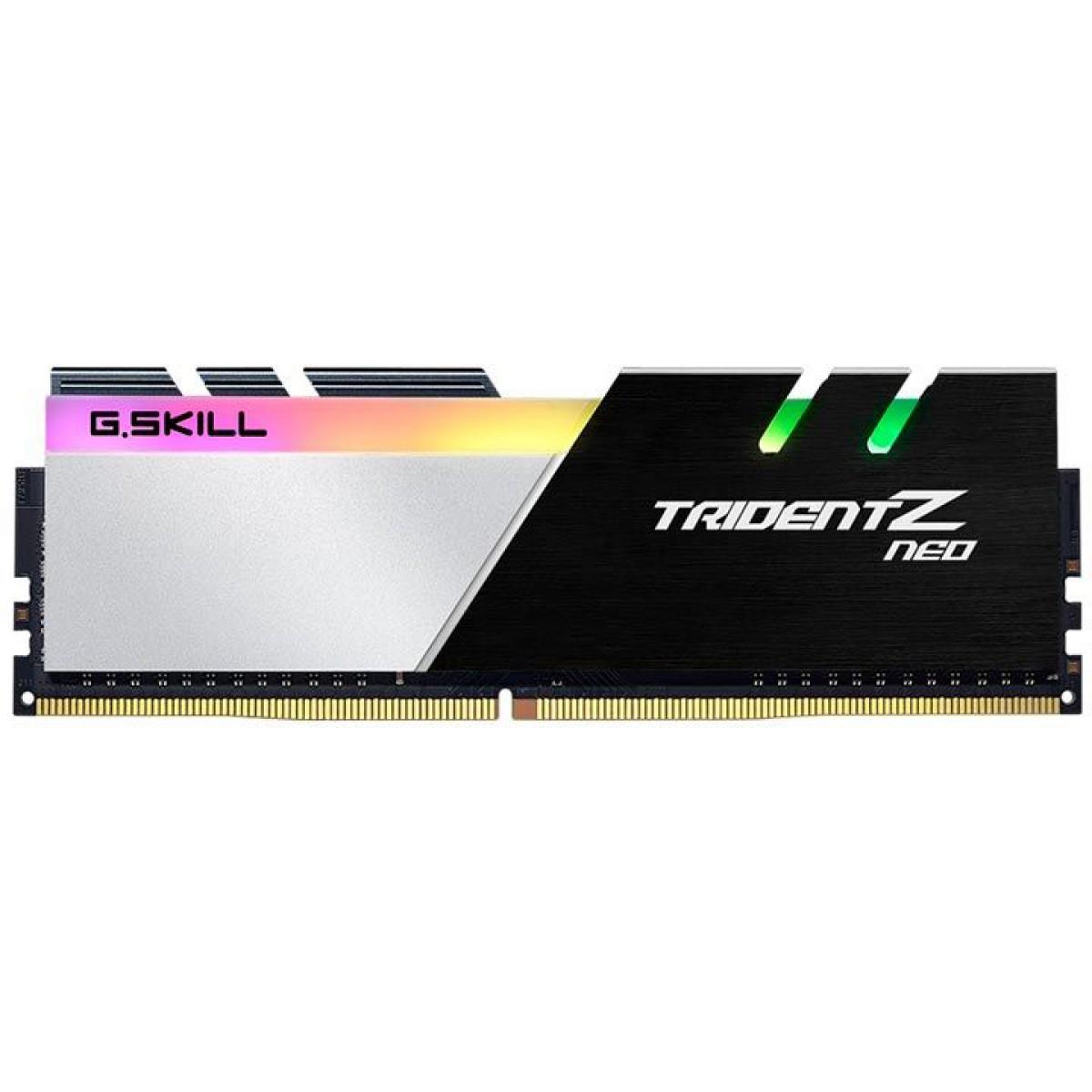 Memória DDR4 G.Skill Trident Z Neo RGB, 16GB (2x8GB) 3600MHz, Black, F4-3600C18D-16GTZN