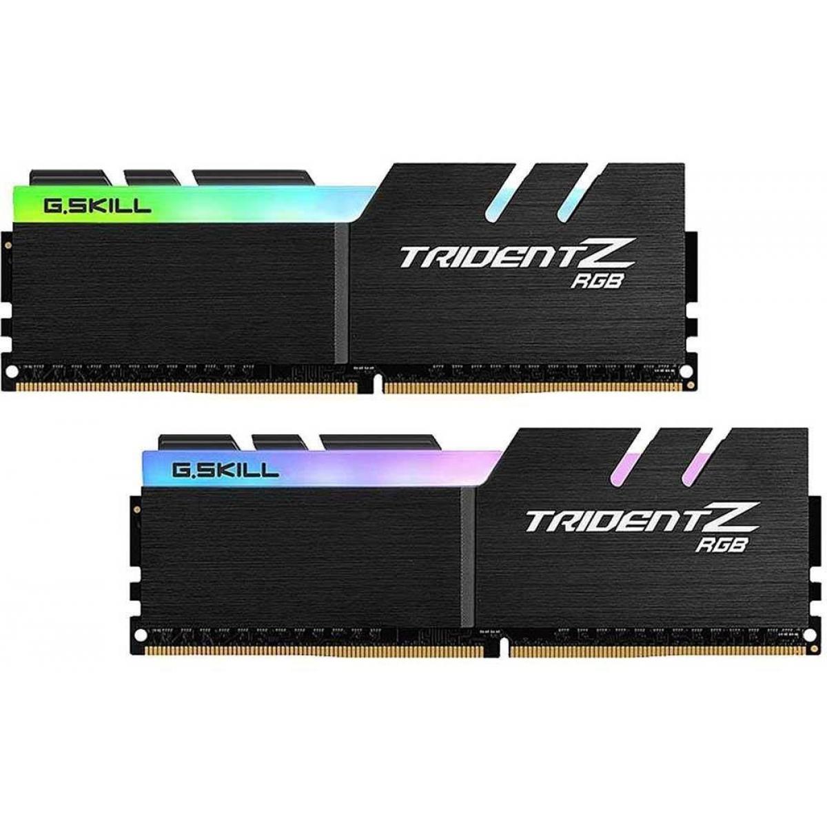 Memória DDR4 G.Skill Trident Z RGB, 16GB (2x8GB) 3600MHz, F4-3600C19D-16GTZRB