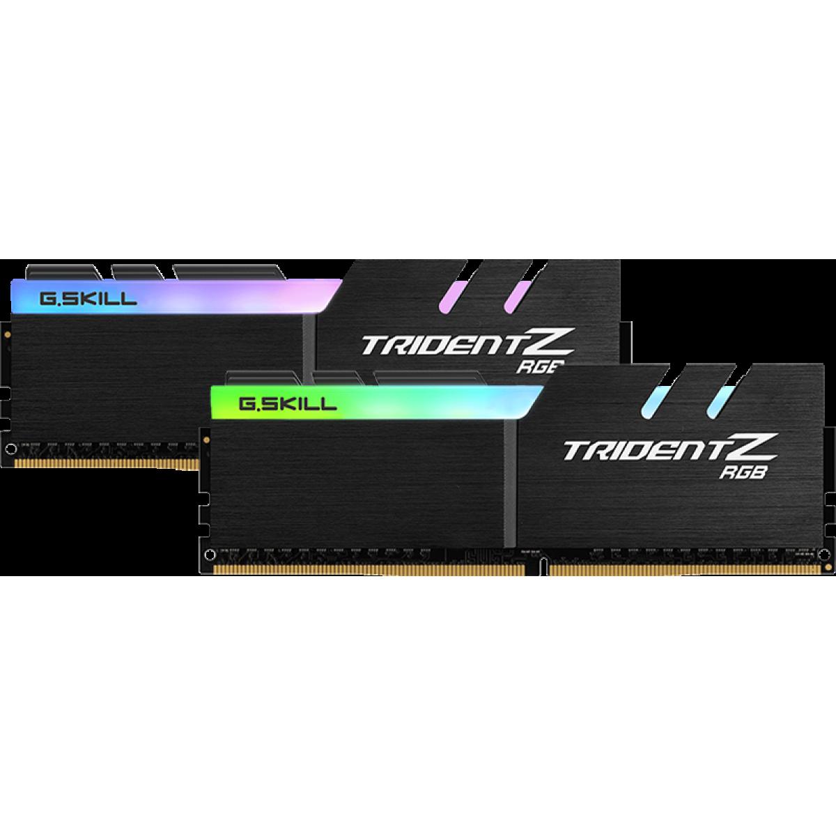 Memória DDR4 G.Skill Trident Z RGB AMD, 16GB (2x8GB) 3600MHz, F4-3600C18D-16GTZRX